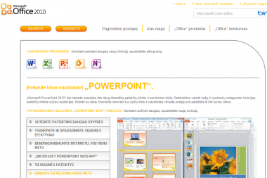 """Parduotuvių lentynas pasiekė lietuviškasis """"Office 2010"""""""