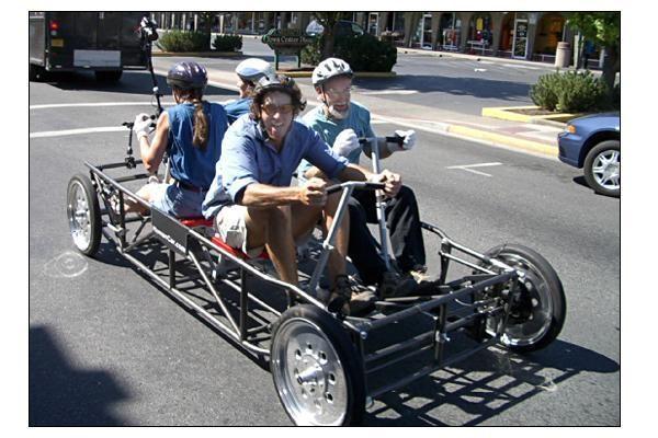 """""""HumanCar"""": automobilis, varomas žmogaus raumenų jėga"""