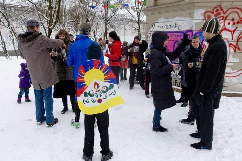 Vilniečiai - už Tibeto laisvės siekius