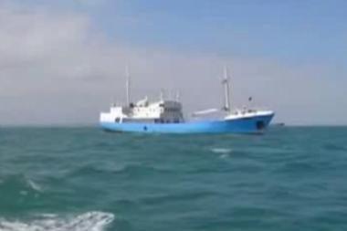 Dvokiančio laivo įgula pagaliau pasiekė žemę