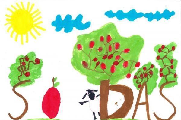 Vaikai pakviesti piešti gražiausią žodį
