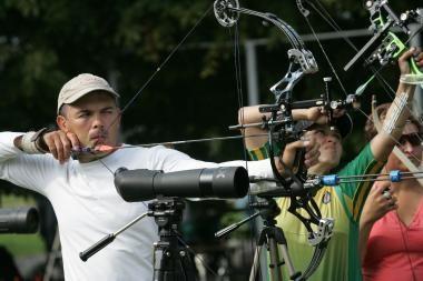 Europos šaudymo iš lanko čempionate V.Šigauskas liko ketvirtas