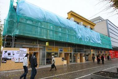 Baigiama V.Kudirkos viešosios bibliotekos fasado rekonstrukcija