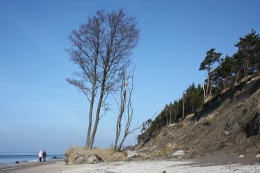 Olando Kepurės skardis nučiuožė į pliažą