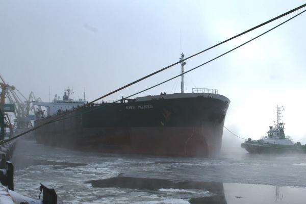 Klaipėdos uoste pakrautas rekordinis kiekis trąšų