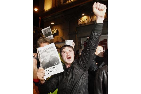 """Maskvos centre sulaikyti opozicijos akcijos """"Rūstybės diena"""" rengėjai"""