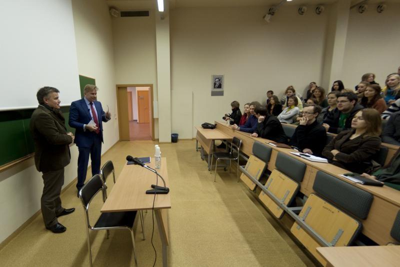 Ministro diskusija su Kauno studentais: nuo emigracijos iki NATO