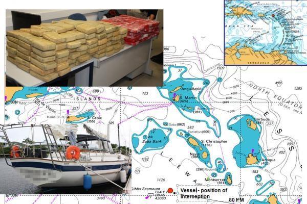 Lietuvos pilietis Karibų jūroje sugautas su 380 kg kokaino