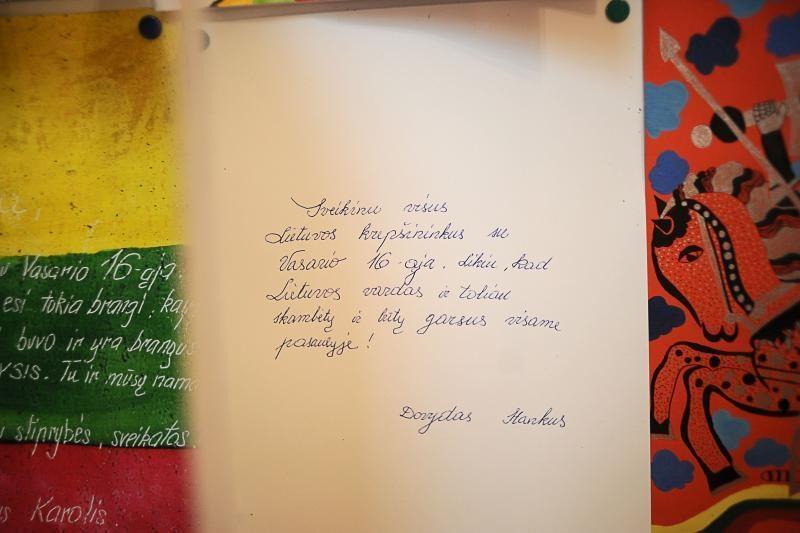 Istorinėje prezidentūroje vaikai sveikino mamą, tėtį ir D.Grybauskaitę
