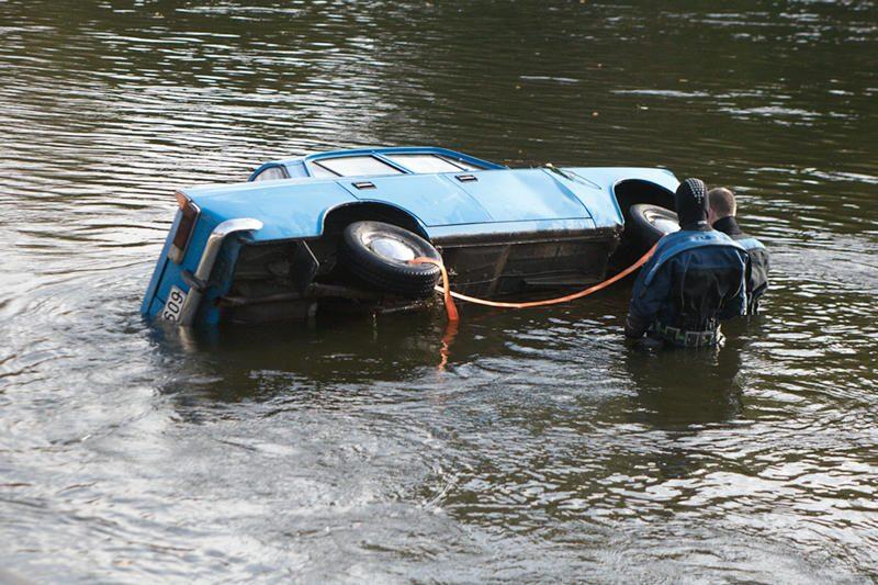 Vilniuje skendo J.Malkovichiaus automobilis