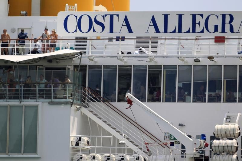 """""""Costa Allegra"""" keleiviai pabaigė savo kelionę"""