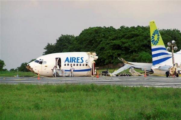 Kolumbijoje per audrą sudužus keleiviniam lėktuvui žuvo žmogus, 114 sužeisti