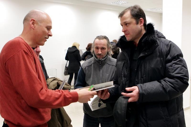 Žymus juvelyras S.Virpilaitis su paroda užsuko į Klaipėdą