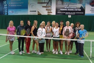 """Teniso turnyrą """"Piramidė"""" laimėjo klaipėdietė E.Vaišvilaitė"""