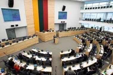 Apkarpytos Seimo narių kanceliarinės išlaidos