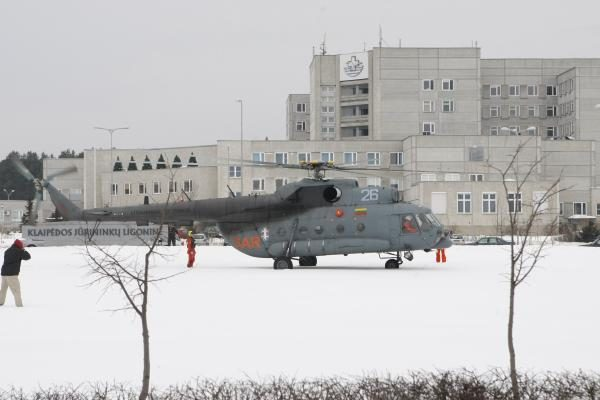Į Klaipėdos ligoninę iš laivo atskraidintas užsienietis (papildyta)