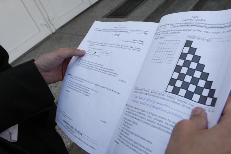 Informacinių technologijų egzamine Klaipėdoje nepasirodė 13 abiturientų