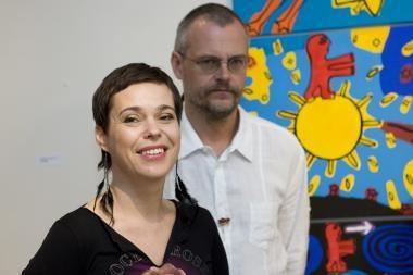 N.Marčėnaitė ir M.Jonutis pristatė parodą Nr. 48