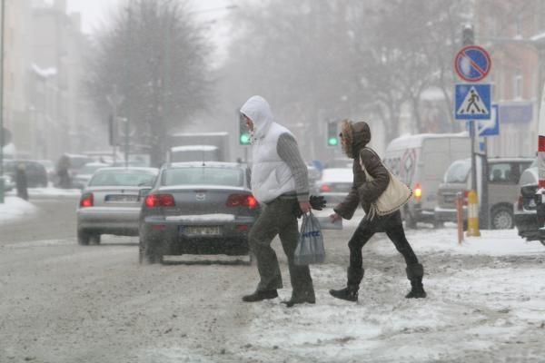 Klaipėdoje - pūga, eismo sąlygos sudėtingos