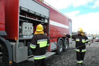 Kretingoje dėl gaisro evakuoti gyventojai