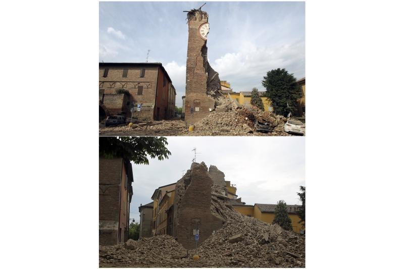 Italijoje žemės drebėjimo aukų padaugėjo iki 6 (papildyta 22:31 val.)