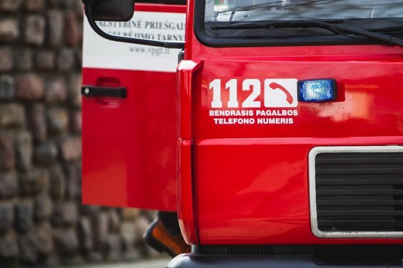 Vilniuje bute per gaisrą nukentėjo žmogus