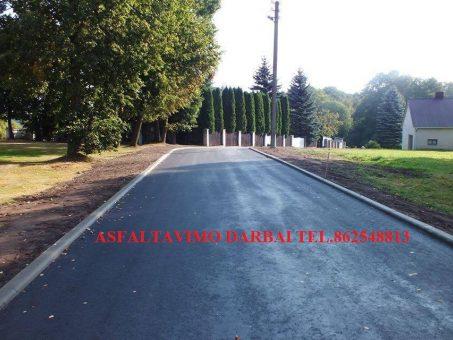Skelbimas - Asfaltavimo darbai visoje Lietuvoje