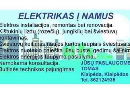 Skelbimas - Elektrikas