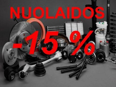 Skelbimas - Nuolaidos 15% visoms dalims