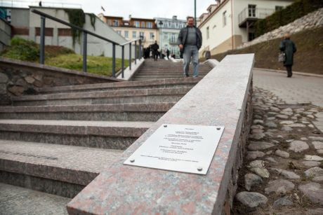 Atidengti Č. Milošo laiptai