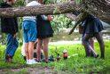 Vietos: neretai jaunimas girtauti renkasi parkuose ir skveruose.