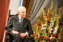 Izraelio prezidentas Sh. Peresas kartu su Lietuvos žydais giedojo himną