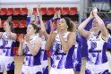 """LMKL pusfinalis: """"Hoptrans-Sirenų"""" krepšininkės įveikė """"Fortūną"""""""
