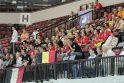 Belgų ir bulgarų dvikova – bemaž tuščioje arenoje