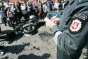 Kalvarijų gatvėje motociklas susidūrė su taksi