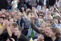 Vilniaus Rotušėje - Lietuvos rinktinės gerbėjų minios