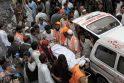 Pakistanas: sprogimas turguje pražudė beveik 100 žmonių