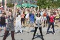 Klaipėdos moksleivius suvienijo 7 minučių šokis