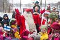Kalėdų senis iš Laplandijos į Anupriškes atvežė pūgą