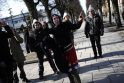 Protestuojantys menininkai šaipėsi iš valdžios