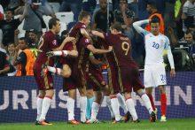 Rusijos futbolininkai rungtynėse su anglais išplėšė lygiąsias