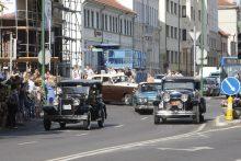 Senovinių automobilių paradas Klaipėdoje