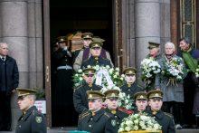 Į paskutinę kelionę išlydimas partizanas V. Balsys-Uosis