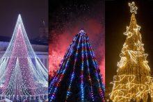 Didžiuosiuose miestuose sužibo Kalėdų eglės: kuri gražiausia?