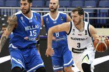 Permainingose rungtynėse Slovėnijos rinktinė palaužė graikus