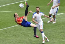 G. Pique įvartis Ispanijos futbolininkams atnešė pergalę prieš Čekiją