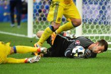 Ukrainos futbolininkai beviltišką pasirodymą baigė pralaimėjimu Lenkijai