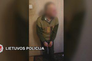Sulaikė prekybos centro darbuotojams grasinusį vyrą