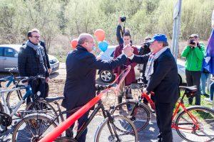 Kauno miestą ir rajoną sujungė vaizdingas dviračių takas