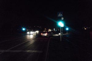 Dalis miesto skendėjo tamsoje